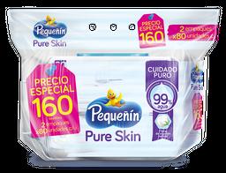 Toallitas Húmedas Pequeñín Pure Skin X160 Und