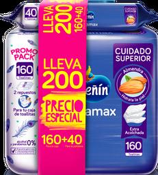 Toallitas Húmedas Pequeñín Acolchamax X 160 Und + 40 Und