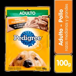 Pedigree perro adulto pollo comida humeda sobre 100 g