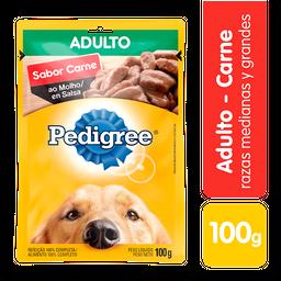 Pedigree Comida Humeda Carne Perro Adulto Sobre 100 G