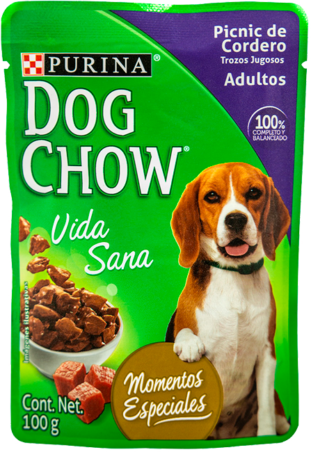 Comida húmeda para perro Dog Chow adulto cordero x 100 gr