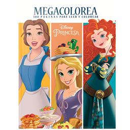 Megacolorea Princesas. 300 Paginas Para Leer Y Colorear