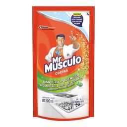 Mr Musculo quitagrasa líquido limón repuesto, 500ml