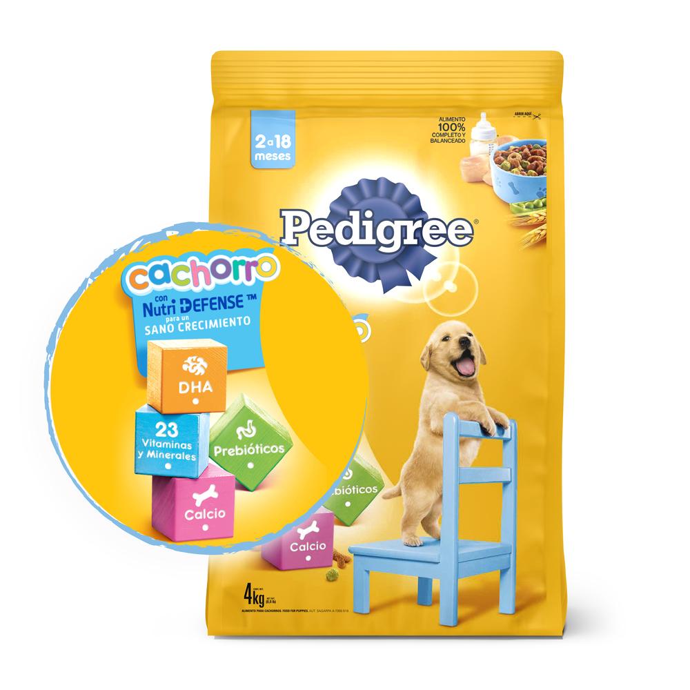 Alimento Perros Seco- Pedigree-Cachorro- 4Kg