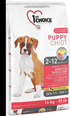 1st choice puppy skin&coat bolsa rosa 14 kg