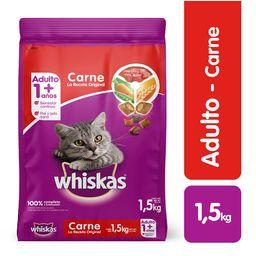 Alimento Gatos Seco- Whiskas-  Carne- 1,5 Kg