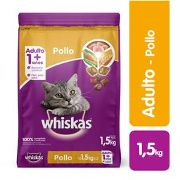 Alimento Gatos Seco- Whiskas-  Pollo Y Leche- 1,5 Kg
