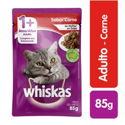 Whiskas pouches carne 85 gr