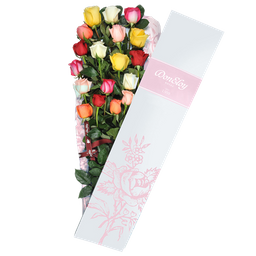 Caja De 12 Rosas Surtida