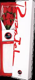 Caja de 09 Rosas rojas en caja clásica