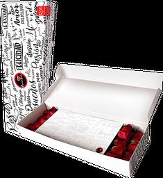 Caja de 10 Rosas rojas en caja R50 blanca