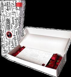Caja de 20 Rosas rojas en caja R50 blanca