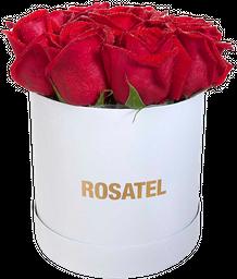 Sombrerera blanca 09 Rosas rojas