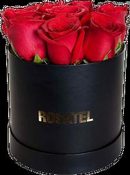 Sombrerera negra 09 Rosas rojas