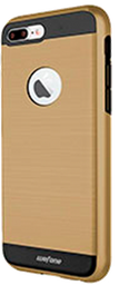 Estuche Forro iPhone 7 Plus Wefone Dual Dorado Negro