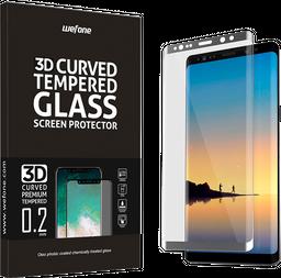 Vidrio Templado Completo Wefone Samsung Note 8 3D Plata