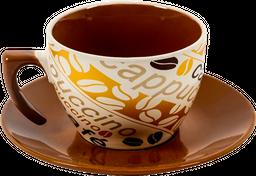 Home Expressions Set de Café Mug Con Plato 175 mL Cappuccino