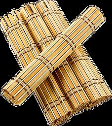Home Set de 4 Individuales Bamboo Rectangular Madera Médium