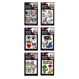Inusual Design Parches Like Leather Stickers Set