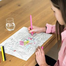 Inusual Design Individuales City Map Colouring