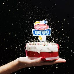 Inusual Design Vela Cumpleaños Flashing Cake Topper