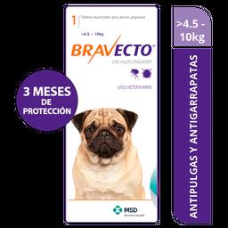Bravecto 4.5 a 10 kg - 250mg x 1 tableta
