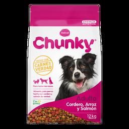 Chunky Alimento Para Perro Cordero Arroz y Salmón 12 Kg