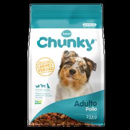 Chunky Alimento Para Adulto Pollo 25 Kg