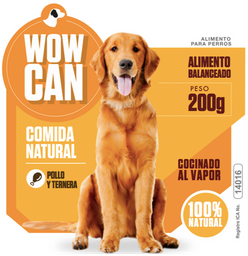 Wow can cocinado pollo/ternera 300 gr
