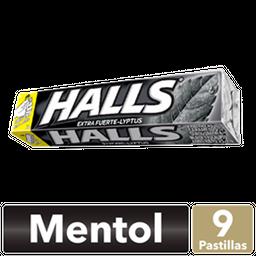 Caramelo Duro Halls Sabor A Menta Fuerte Pack 25.2G