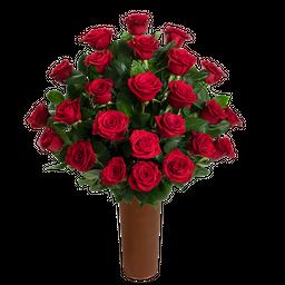 25 Rosas Rojas de Exportación
