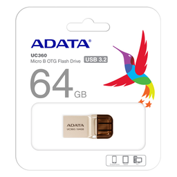 Memoria Microduo Adata UC360 64GB Usb 3.1 Y MicroUSB - Gris