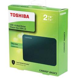 Disco Externo Toshiba Basics 2TB - Negro