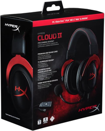 Diadema Kingston HyperX Cloud II - Roja