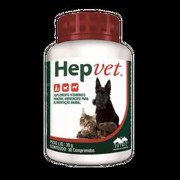 Hepvet 30 Comprimidos (1.65 mg/ 0.58 mg/ 10.02 mg/ 20.25 mg)