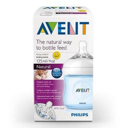 Avent Tetero Biberon Natural 4 Oz 125 Ml X1 Azul 0m+