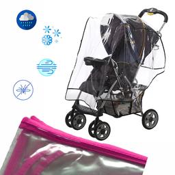 Protector de Lluvia Coche Para Bebé Rosado