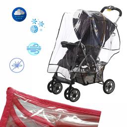 Protector de Lluvia Coche Para Bebé Rojo