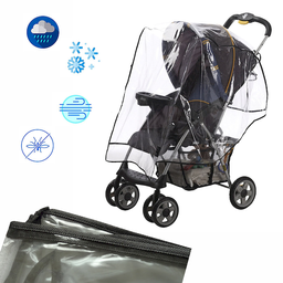 Protector de Lluvia Coche Para Bebé Negro
