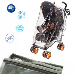 Protector de Lluvia Paseador Para Bebé Gris
