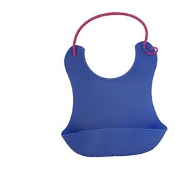 Babero SoftBib de Silicona Ajustable Azul