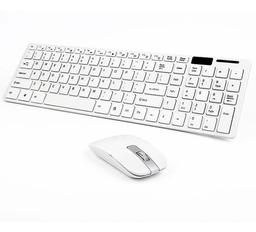 Combo Teclado y Mouse Inalambrico 2.4g Ultra Delgado Blanco 1 U