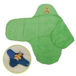 Toalla De Baño Para Bebé Con Capota Mifanqi Verde