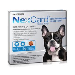 NexGard 4.1 a 10 Kg 1 Tableta (28.3 mg)