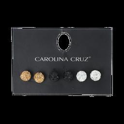 Aretes Carolina Cruz Juego de 3 Topos