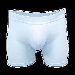 Boxer Geordi Algodon Largo Fondo Entero Blanco