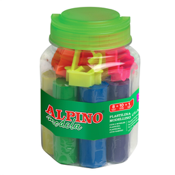 Kit Plastilina 8 Colores + 10 Moldes + Rodillo