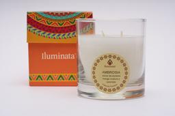 Vela Vaso Iluminata 33 Ambrosia Mandala 1 U