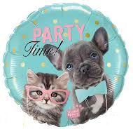 Globo Qualatex 18 Party Tims Animals