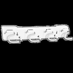 Porta Escoba Blanco 8 Puestos